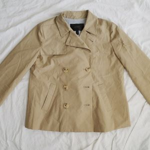 J. Crew Japanese Poplin Swing Trench Coat